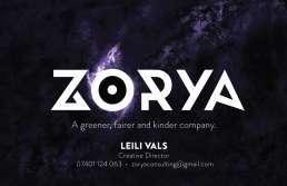 Zorya Business Cards Back